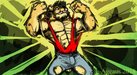 Patreonsketch: Gnoll Power! by Ageaus