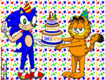 Sonic and Garfield's Birthday by CaseyDecker