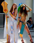 Mia and Hatchepsout from Civilization online by NineetNora