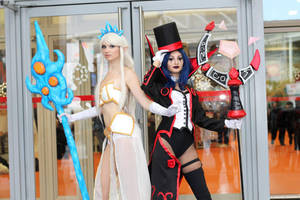 Janna and Prestigious Leblanc cosplay by NineetNora
