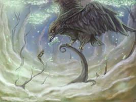 Atop Yggdrasil by Lunaros