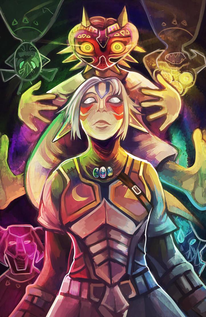 Fierce Deity's Mask by Lunaros