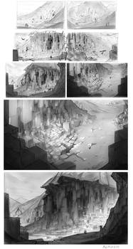Schoolstuff.3 Lovecraftian Landscapes by Remarin