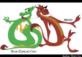 Mushu and Doio by GunZcon