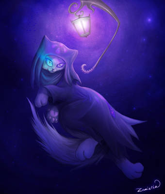 Magical cat by Zamietka