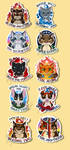 Warriors Stickers-Prophecies and Omens [FOR SALE] by SpaceSheep-Art