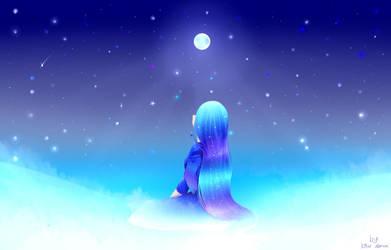 Redraw: Waiting under the moonlight by TheKillerDemon