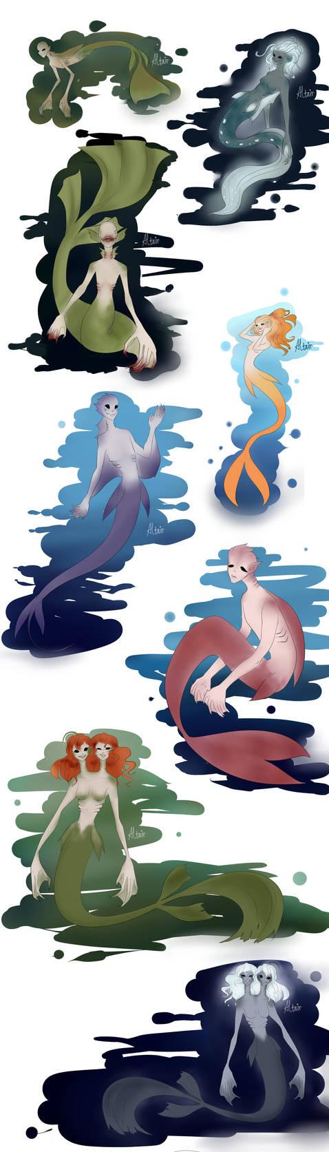 Mermaid/merman(?) by TheKillerDemon