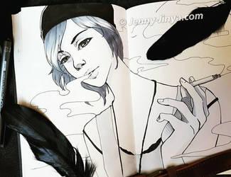 Chloe Price Inktober by JennyJinya