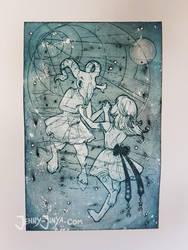 Baphomet -dancing stars- by JennyJinya