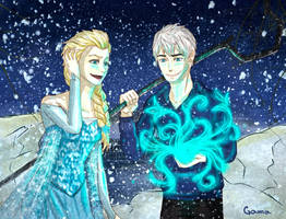Elsa and Jack by GamaV