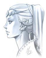 Princess Zelda Portrait by Tyaren