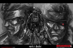 Solid Snake by MeganeRid