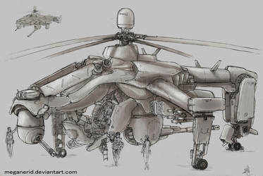 Fuujin Attack Helicopter by MeganeRid