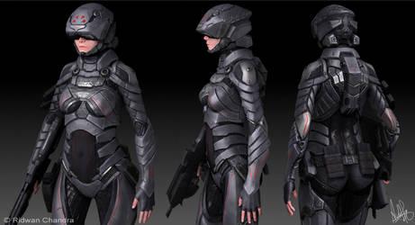 Female Soldier 2 by MeganeRid