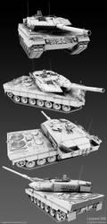 Leopard 2 Tank II by MeganeRid