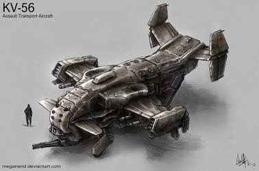 KV-56 Assault Transport Aircraft by MeganeRid