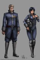 Commission - Thomas Logan and Misako by MeganeRid