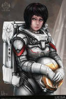 Female Astronaut by MeganeRid
