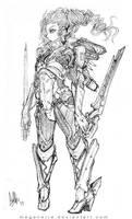 Swordmaster Angel Narra by MeganeRid