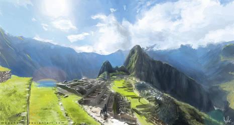 Machu Picchu by MeganeRid