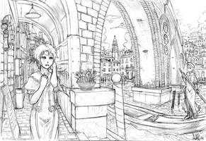Asura in a Venetian City by MeganeRid