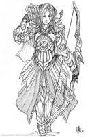 Elven Archer Reya by MeganeRid
