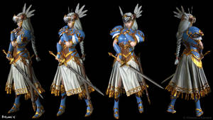 Valkyrie Profile Lenneth Posed WIP by MeganeRid