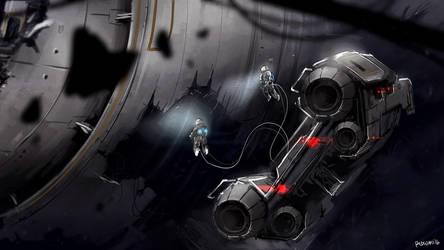 Speedpaint - Space Salvage by MeganeRid