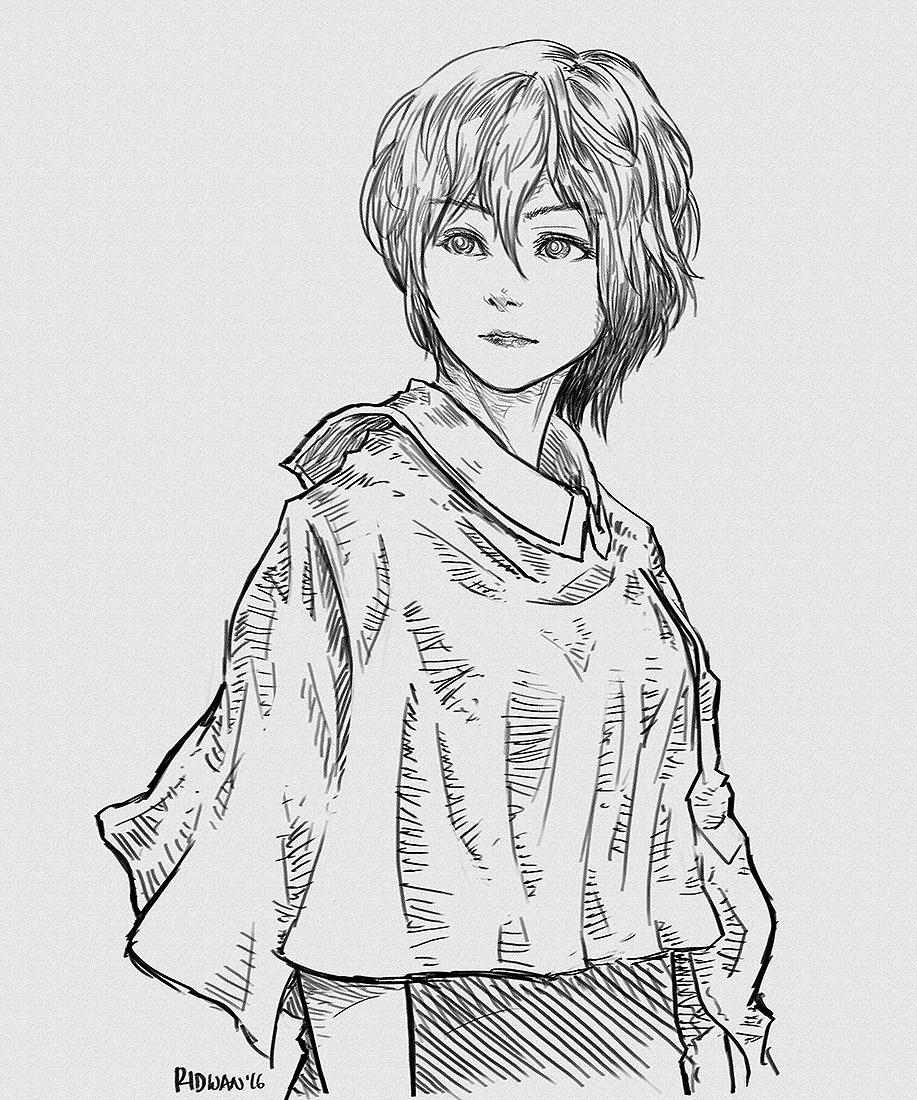 A Girl by MeganeRid