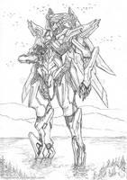 Commission - Mecha - Super Robot by MeganeRid