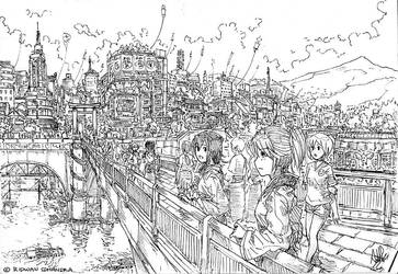 Bridge to Festival by MeganeRid