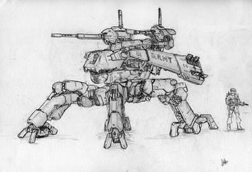 four-legged mech by MeganeRid