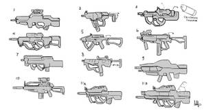 AFF-rifles concepts 1 by MeganeRid