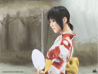 Girl in kimono by MeganeRid
