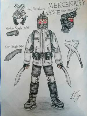 (CreepypastaOC) Mercenary Vance by zazaarnon145xer by zazaarnon145xer