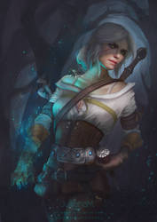 Ciri fanart by JulijanaM