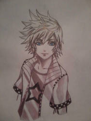 Roxas from Kingdom Hearts by grimtalesgirl
