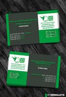 Green Bird Business Card by hemalaya
