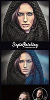 Sepia Painting Photoshop Action by hemalaya