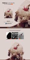 Triple Exposure Photoshop Action by hemalaya
