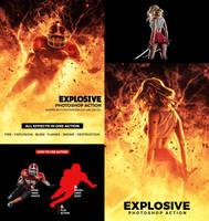 Explosive Photoshop Action by hemalaya