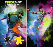 Color Dust | Photoshop Action by hemalaya