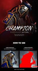 Champion Photoshop Action by hemalaya
