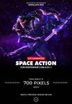Animated Space Photoshop Action by hemalaya