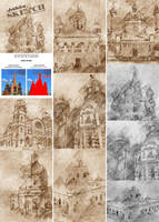 Architecture Sketch 2 Photoshop Action by hemalaya