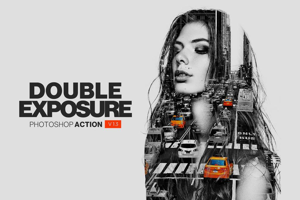 Double Exposure Action by hemalaya