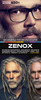 450+ Zenox Premium Photoshop Actions by hemalaya