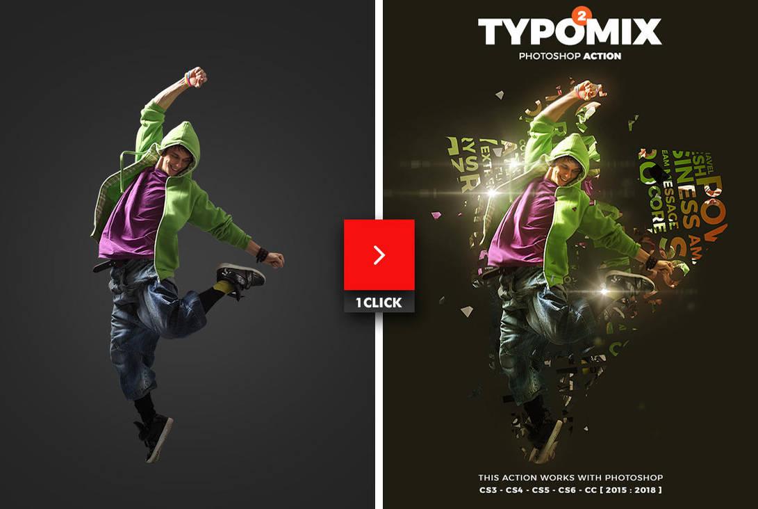 TypoMix 2 Photoshop Action by hemalaya