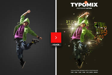TypoMix 2 Photoshop Action by hemalaya